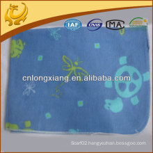 100% cotton fleece printed baby blanket