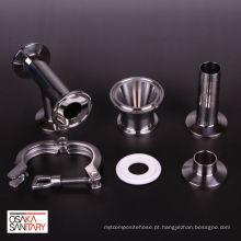 Acessórios de metal redutor que cumprem os padrões ISO para plantas alimentares. Fabricado por Osaka Sanitary Co., Ltd. Feito no Japão