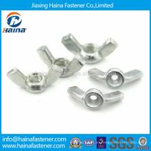 Sujetador de tuerca de ala de acero al carbono zincado DIN315