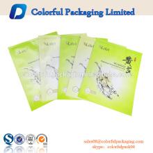 Personalizado laminado senhora máscara facial embalagem maleta ODM logotipo impressão sacos de cosméticos folha de alumínio máscara facial saco de embalagem