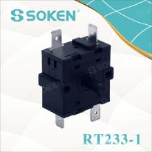 Soken Interrupteur rotatif à 4 positions