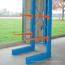 Estante de almacenamiento en voladizo caliente de doble cara / solución de almacenamiento larga del artículo