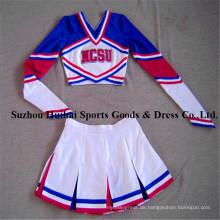 Spandex Langarm Cheerleading Uniformen