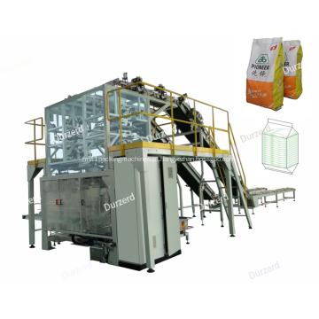 Máquina de embalagem secundária automática com alimentação de saco