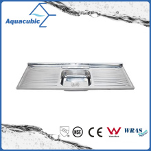 Above Counter Stainless Steel Moduled Kitchen Sink (ACS-15050S)