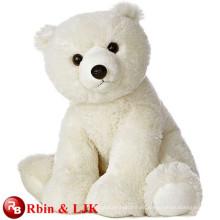 Conozca EN71 y ASTM estándar ICTI juguete de peluche de fábrica de oso polar de peluche de juguete