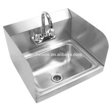 Splash Mounted Stainless Steel Commercial Hand Wash Sink for Restaurant