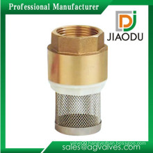 Newest professional brass foot valve with strainer