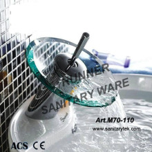 Glass Waterfall Basin Faucet Mixer (M70-110)