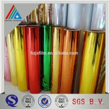 PET de plástico PET metálicos materiais de embalagem laminação filme em rolo
