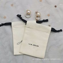 Wholesale Custom Nature cotton Necklace Sunglasses Pouch Eco-Friendly Drawstring canvas jewelry bag