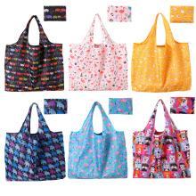 Wholesale Reusable Heavy Duty Women Eco-friendly Handled Folding Tote Reuseable Shopping Bag