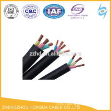450/750v soft copper wire rubber insulated rubber sheath flexible cable for communication