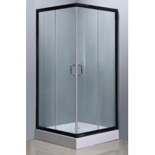 Sitio de ducha cuadrado simple con acabado de aluminio de color negro (E-07Black)