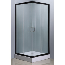 Simple Square Shower Room with Black Color Aluminum Finish (E-07Black)