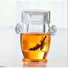 Tetera elegante Tetera creativa Tazón de vaso de borosilicato de vidrio Juice Pot