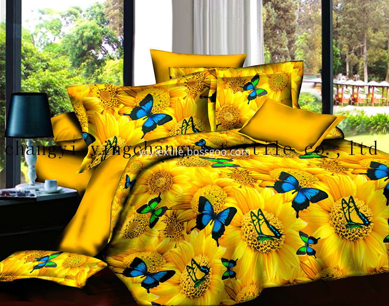 Export Polyester Print Bed Sheet Fabric