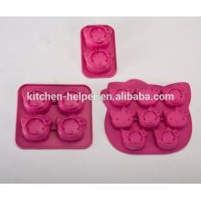 FDA aprobó HQ silicona Hello Kitty molde de la torta de la forma
