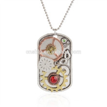 Low price high quality custom metal dogtag necklace