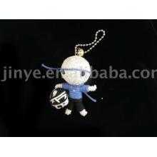 Werbegeschenk handgemachte Fußball Schnur Voodoo Puppe