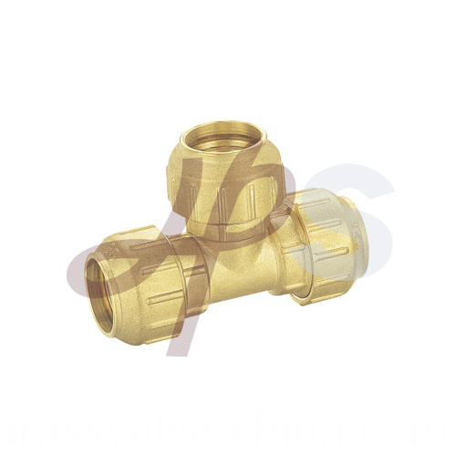 Brass Tee Of Pe Ppr Compression H805