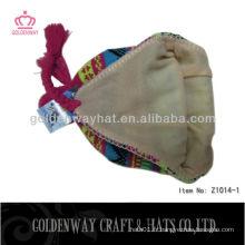 Nouveaux chapeaux tricotés en hiver, crochet earflaps chaud à vendre