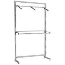 Professional customized Clothing Display Racking Garments Shelves Chromed Clothes Rack