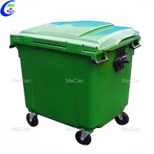 Mobile Mülltonnenanlage auf 4 Rädern für den Außenbereich