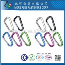 Hecho en Taiwán No Rust Acero inoxidable de acero galvanizado Llock Llock Paseo Carabiner Hook
