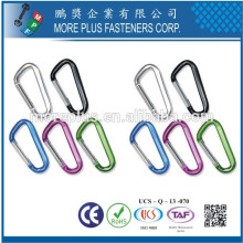 Made in Taiwan Non Rust Stainless Steel Galvanized Steel Screw Llock Hiking Carabiner Hook