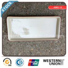 Excess en céramique 10 '' Rectangle Plate (bord de couleur) Stock à vendre