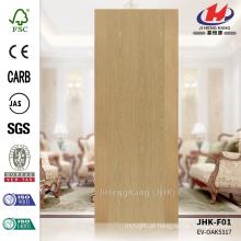 JHK-F01 Textura reta Hot Sale Chinês Lowes projetado ASH HDF moldado folheado Flush painel da porta