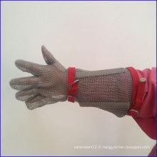 Gants en acier inoxydable résistant à la coupe protectrice de bras