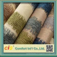 100% poliéster de boa qualidade sofá clássico Chenille tecido