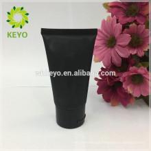 50 ml preto creme de mão matte tubo cosmético embalagem plástico creme de rosto macia tubo