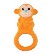 Natureza brinquedos de borracha macaco, anel de dentição
