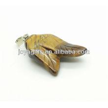 Двойные листья формы тигра глаз кулон кулон драгоценный камень