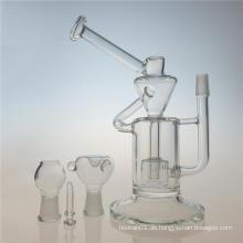 Klein Recycler Dual Chamber DAB Rig Glas Rauchen Rohr (ES-GB-402)