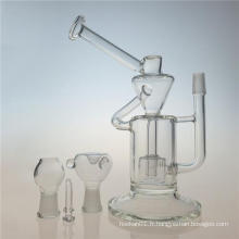 Klein Recycler Chambre double DAB Rig Glass Smoking Pipe (ES-GB-402)