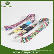 Material de poliéster cordón de cuello de cymk con garra de langosta