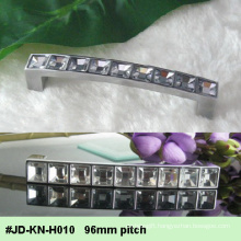 96mm Pitch Cube Diamond Bling Crystal Glass Drawer Handle