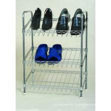 El cromo del metal del precio al por mayor inclinó el estante del zapato (CJ-B1111)
