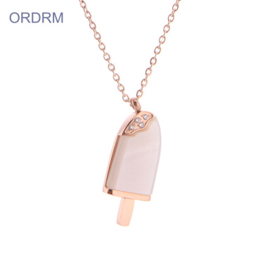 Benutzerdefinierte 16-Zoll-Rose Gold Ice Cream Necklace