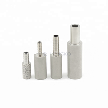 Sintered stainless steel porous air sparger bubble diffusion stone for brackish culture