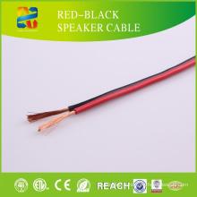 Câble haut-parleur rouge et noir haute qualité