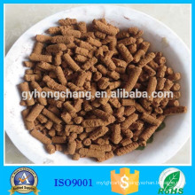 High temperature active iron oxide desulfurizer vulcanizing agent