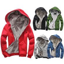 Winter warme hochwertige Plain Full Zip-up Hoodies