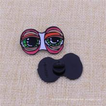 Benutzerdefinierte Ihre Design Soft Enamel Black Nickel Pin mit Gummi-Kappe