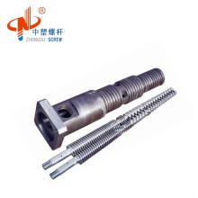 Factory direct Bimetallic 38crmoala twin conial barrel for extruder pp,pe,pvc