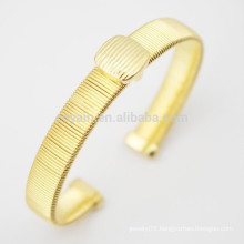 18K Gold Plated Metal Cuff Bracelet Blanks Made In China